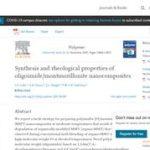 Synthesis and Rheological Properties of Oligoimide/Montmorillonite Nanocomposites.