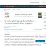 New Phosphate Glass/Polymer Hybrids-Current Status and Future Prospects.