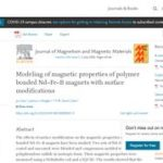 Modeling of Magnetic Properties of Polymer Bonded Nd-Fe-B Magnets with Surface Modifications.