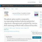 Phosphate glass matrix composites incorporating trisilanol phenyl polyhedral oligomeric silsesquioxane prepared by viscous flow sintering method with enhanced benefits.