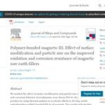 Polymer Bonded Magnets III: Effect of Surface Modification and article Size on the Improved Oxidation and Corrosion Resistance of Magnetic Rare Earth Fillers.